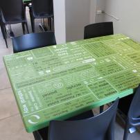 Shoreline Cafe Tabletop Infographic