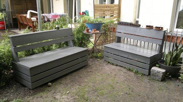 bench garden storage