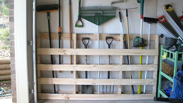 wall storage garage gardening tools